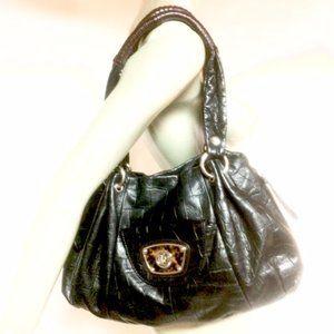 B. Makowsky Embossed Tote Shoulder Bag